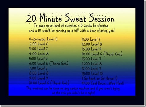 sweat session